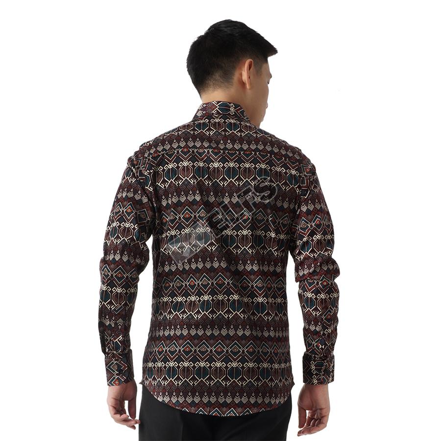 Batik Kemeja Panjang: Kemeja Pria Batik Songket Lengan Panjang Slimfit Termurah