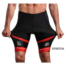 CELANA TRAINING PENDEK Celana Sepeda Padding 3D Gel Veobike Cool Max Fullprint Cycling Shorts Merah Cabe