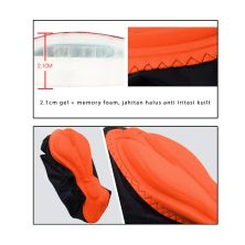 CELANA TRAINING PANJANG Celana Sepeda Panjang Padding 3D Gel Scotchlite Veobike Cycling Pants Silver