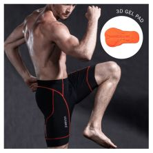 CELANA TRAINING PENDEK Celana Sepeda Padding 3D Gel Veobike Cool Max Scothlite Cycling Shorts Merah Cabe