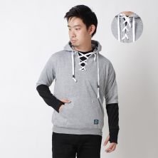 JUMPER Timo Jumper Hoodie Fleece with Shoe Laces Knot Abu Muda