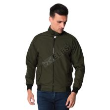 JAKET REVERSIBLE Jaket Pria Bolak Balik Harrington 2 in 1 Seleting Tinggi AT Hijau Army