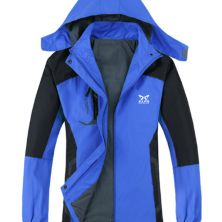 JAKET HIKING Jaket Hiking Windproof  Water Resistant Outdoor Jacket Biru Tua