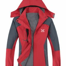 JAKET HIKING JAKET HIKING WINDPROOF  WATER RESISTANT OUTDOOR JACKET MERAH CABE