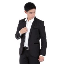 JAS / BLAZER Jas Formal Twill Pocket Beludru 1665 Hitam