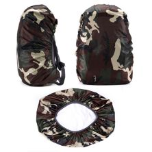 COVER BAG Cover Bag Waterproof Raincover 45 Liter Reversible Camouflage  Sarung Tas Loreng Outdoor bolak balik Anti Air Termurah Hijau Tua