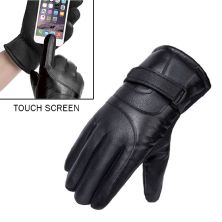 SARUNG TANGAN & MANSET Sarung Tangan Kulit Touch Screen Waterproof Musim Dingin Winter Hitam