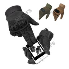 SARUNG TANGAN & MANSET Sarung Tangan TOUCH SCREEN Tactical Army Protector Motor Airsoft Paintball Sepeda Hitam