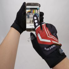 SARUNG TANGAN & MANSET Sarung Tangan Sepeda Full Finger Road Bike Gloves Merah Cabe