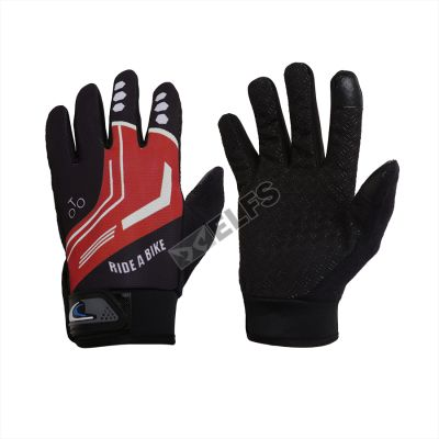 SARUNG TANGAN & MANSET Sarung Tangan Sepeda Full Finger Road Bike Gloves Merah Cabe 4 sarung_tangan_bikers_full_mc3