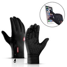 SARUNG TANGAN & MANSET Sarung Tangan Motor/Sepeda Touch Screen Gloves B-Forest Waterproof Hitam