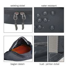 SLING BAG Tas Selempang Lipat Anti Air Foldable Water Resistant Slingbag 1AX802 ELFS Abu Tua