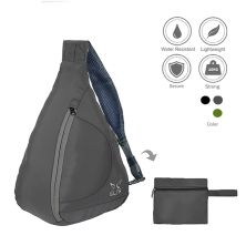 SLING BAG Tas Selempang Lipat Anti Air Foldable Water Resistant Slingbag 803 Dove Abu Tua