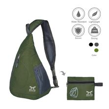SLING BAG Tas Selempang Lipat Anti Air Foldable Water Resistant Slingbag 1AX803 ELFS Hijau Army