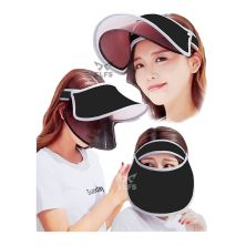 TOPI GOLF Topi Caddy Golf Double Visor Anti UV Hitam