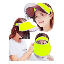 TOPI GOLF Topi Caddy Golf Double Visor Anti UV Hijau Stabilo
