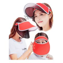 TOPI GOLF Topi Caddy Golf Double Visor Anti UV Merah Cabe