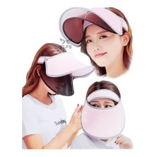 TOPI GOLF Topi Caddy Golf Double Visor Anti UV Pink Muda