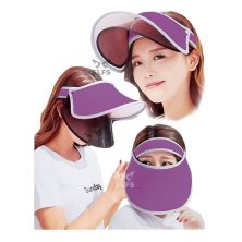 TOPI GOLF Topi Caddy Golf Double Visor Anti UV Ungu Tua