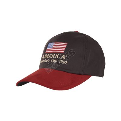 BASEBALL MOTIF TO3 BORDIR SUEDE BASEBALL CAP AMERICA-CT 1 to3_bordir_suede_baseball_cap_america_cup1