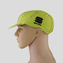 TOPI RIMBA / MANCING Topi Sepeda Cycling Cap Breathable Quick Dry Bike To Work Full Print List Besar Hijau Stabilo