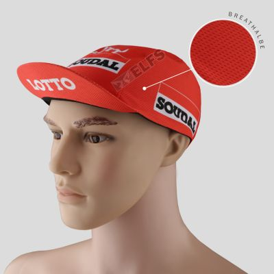 TOPI RIMBA / MANCING Topi Sepeda Cycling Cap Breathable Quick Dry Bike To Work Full Print Orange Lotto 1 to3_sepeda_lotto_soudal_or_0
