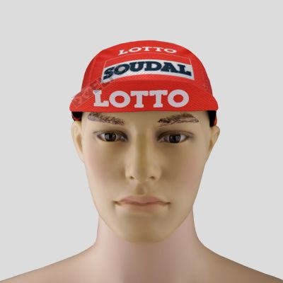TOPI RIMBA / MANCING Topi Sepeda Cycling Cap Breathable Quick Dry Bike To Work Full Print Orange Lotto 3 to3_sepeda_lotto_soudal_or_2