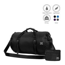 TRAVEL BAG Tas Duffle Lipat Anti Air Foldable Water Resistant Travel Bag ZD05 Hitam
