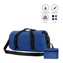 TRAVEL BAG Tas Duffle Lipat Anti Air Foldable Water Resistant Travel Bag ZD05 Biru Tua