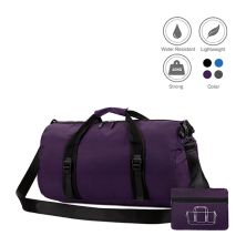 TRAVEL BAG Tas Duffle Lipat Anti Air Foldable Water Resistant Travel Bag ZD05 Ungu Tua