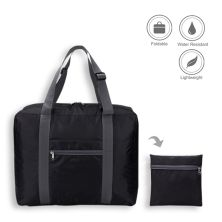 TRAVEL BAG Tas Travel Luggage Bag Foldable Water Resistant 35L 016 Hitam