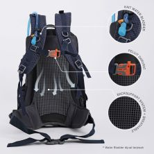 TAS GUNUNG Tas Ransel Gunung Carrier 35L Backsupport Water Resistant Hiking Bag Free Raincover Biru Dongker