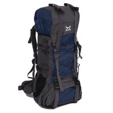 TAS GUNUNG TAS RANSEL GUNUNG CARRIER 605L BACKSUPPORT WATER RESISTANT OUTDOOR HIKING BAG FK0008 BIRU DONGKER
