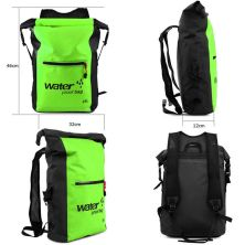 TAS GUNUNG DRY BAG BACKPACK WATERPROOF 25 LITER  TAS RANSEL ANTI AIR 100 HIJAU MUDA