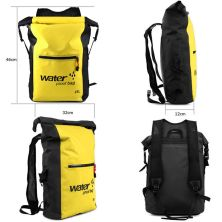 TAS GUNUNG DRY BAG BACKPACK WATERPROOF 25 LITER  TAS RANSEL ANTI AIR 100 KUNING TUA