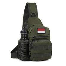 TAS PUNDAK TAS CROSSBODY TACTICAL WATERPROOF LIBANON SLINGBAG FK9301 HIJAU ARMY