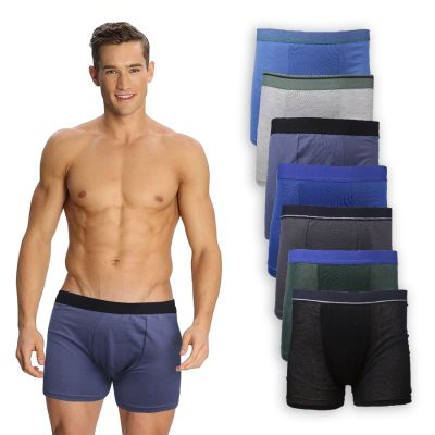 BOXER POLOS Boxer Briefs Katun Pria Import List Celana Dalam CD Kolor Abu Tua 1 xk_boxer_briefs_import_list_3pcs_mx0